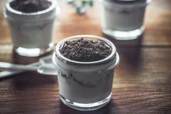 Iogurte, iogurte, fruto, fundo, sobremesa, café da manhã, fresco, f Fotografia de Stock