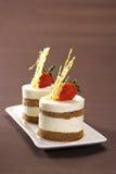 Iogurte Tiramisu da morango Imagens de Stock Royalty Free