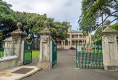 Iolani宫殿在檀香山夏威夷 库存图片