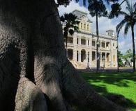 Iolani宫殿在檀香山,夏威夷美国 图库摄影