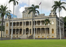 Iolani Palace. The only royal palace in the United States Stock Images