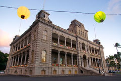 Iolani palace holiday season Stock Image