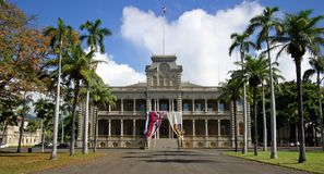 Iolani Palace - Honolulu, Hawaii Royalty Free Stock Photo