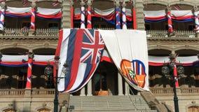 Iolani Palace in Oahu Hawaii stock video footage