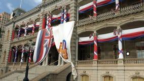 Iolani Palace in Oahu Hawaii stock footage