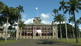 Iolani Palace in Oahu Hawaii stock video