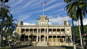 Iolani slott, Honolulu, Oahu Royaltyfri Bild