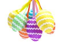 Iolated Easter eggs Stock Photos