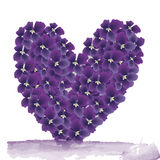 Iolet heart on a white background Royalty Free Stock Image