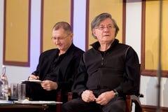 Ion Caramitru and Horatiu Malaiele Royalty Free Stock Photo