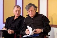 Ion Caramitru and Horatiu Malaiele Royalty Free Stock Image