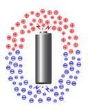 Ion eléctrico de la batería stock de ilustración