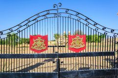 Ion gate and coat of arms of a Palace of Jaisalmer, Royalty Free Stock Image