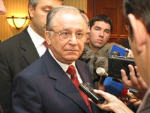 Ion Iliescu. Is a romanian politician and the former president of Romania Stock Photo