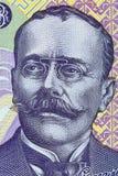 Ion Luca Caragiale stående från rumänska pengar Royaltyfria Foton
