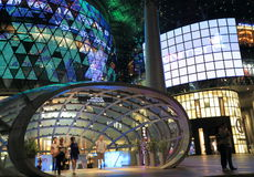 ION Orchard modern architecture Singapore. ION Orchard department store by night Singapore Stock Photo