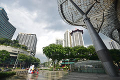 ION Orchard shopping mall Singapore after heavy rain Royalty Free Stock Photo