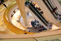 ION Orchard shopping mall Singapore. Interior design for Orchard Ion Royalty Free Stock Photos