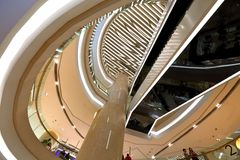 ION Orchard shopping mall Singapore. Interior roof design for Orchard Ion Stock Images