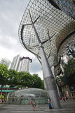 ION Orchard shopping mall Singapore taken vertically from Inside Stock Photo