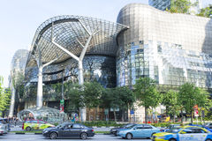 Ion Orchard. Shopping mall in Singapore with traffic of vehicle. Photo was taken on 21 July 2013 Royalty Free Stock Photography