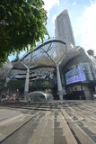 ION Orchard shopping mall Singapore after tropical heavy rain Stock Image