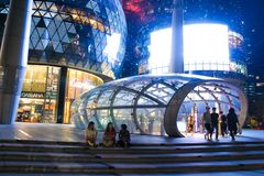 ION Orchard Singapore. ION Shopping mall Orchard Road Singapore Stock Images