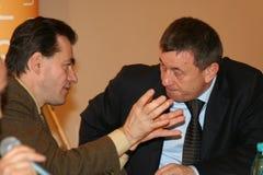 Ion Radulea and Ludovic Orban Stock Image