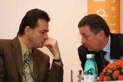 Ion Radulea and Ludovic Orban Stock Photos