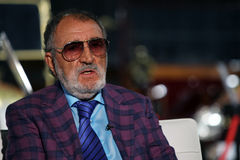 ION TIRIAC. Former professional tennis player, now a businessman, Ion Tiriac, pictured at a press conference, in Bucharest, Romania, Wednesday, April 20, 2016 Stock Images