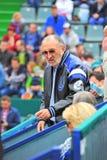 Ion Tiriac, leyenda rumana del tenis Foto de archivo libre de regalías