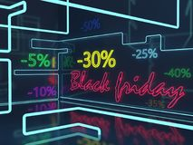 Ion vendredi noir Image stock