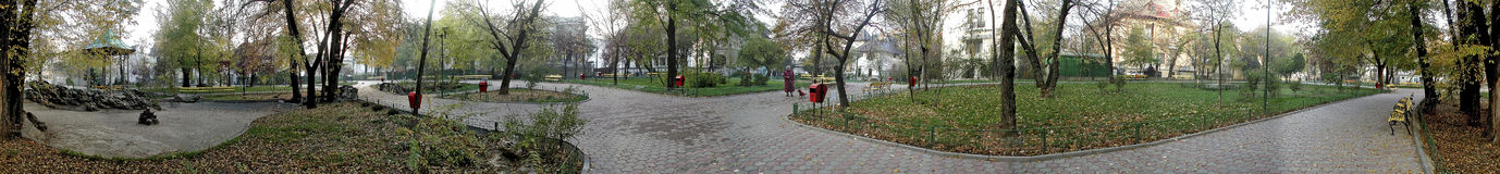 Ion Voicu Park, Boekarest, 360 graden panorama Stock Foto
