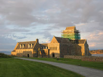 Iona Abbey at dusk Stock Image