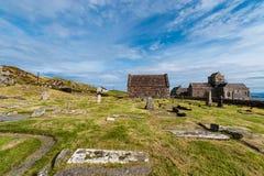 Iona Abbey helig ö av Iona, Skottland Royaltyfri Fotografi