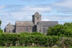 Iona Abbey op Iona, Schotland, het UK royalty-vrije stock foto