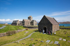 Free Iona Abbey Scotland Uk Visitors Enjoying Beautiful Spring Weather At This Historic Landmark On The Scottish Island Stock Photo - 84728640
