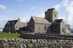 Iona Abbey - vista lateral Imágenes de archivo libres de regalías