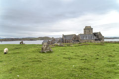 Iona Abbey. Iona was the cradle of Scottish Christianity in Scotland Royalty Free Stock Image