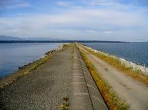 Iona Beach Park pipeline walk. On a sunny day, Richmond, BC. Canada Royalty Free Stock Photos