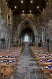 Iona, a nave da igreja da abadia Imagem de Stock Royalty Free