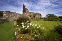 Iona Nunnery Ruins. On the Isle of Iona in the Inner Hebrides on the West Coast of Scotland. This Augustinian nunnery was founded around 1200 stock photography