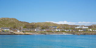 Iona Scotland uk Inner Hebrides Scottish island off the Isle of Mull west coast of Scotland. A popular tourist destination known for the abbey royalty free stock photos