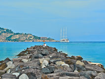 Рыболовы на Ionian море Стоковые Фото
