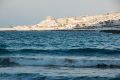 Ionian coast after a exceptional snowfall Royalty Free Stock Images