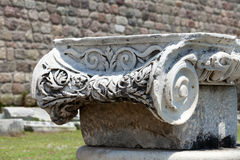 Ionian column capital Royalty Free Stock Photos