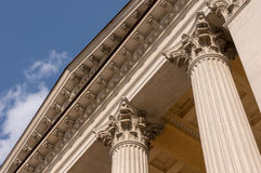 Ionian column capital architectural detail.  Royalty Free Stock Photography
