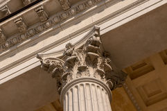 Ionian column capital architectural detail Stock Image