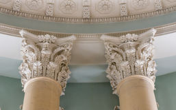 Ionian column capital architectural detail.  Royalty Free Stock Images