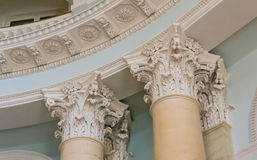 Ionian column capital architectural detail Royalty Free Stock Photography
